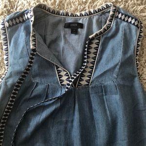 J. CREW | denim shift dress